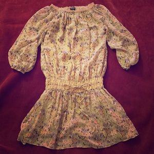 NWOT Moda Int. Floral Peasant Dress